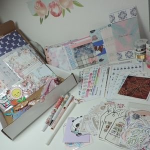 HUGE LOT Planner Supplies Papers, Clips, Washi